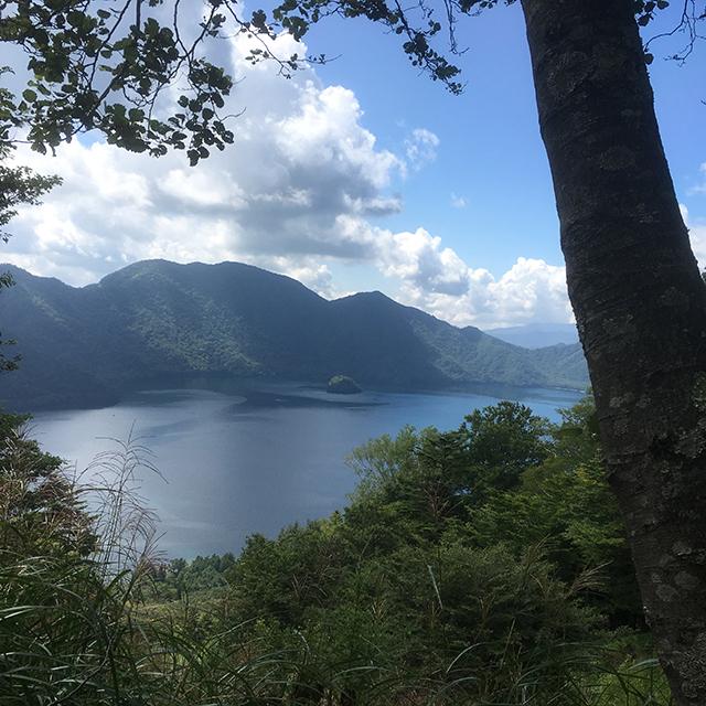 ふと視線を向けるとそこには中禅寺湖
