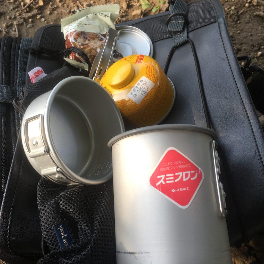 チタン製のシェラカップ