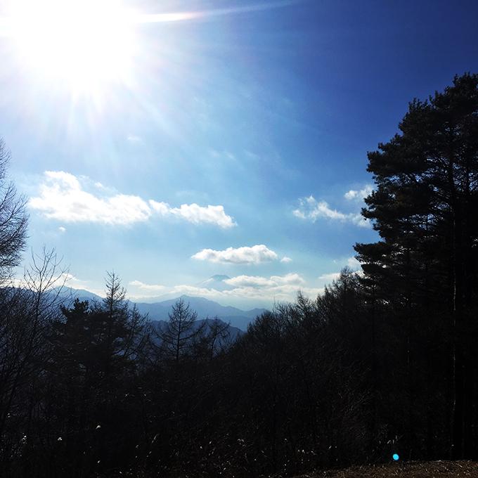 扇山から富士山を見る