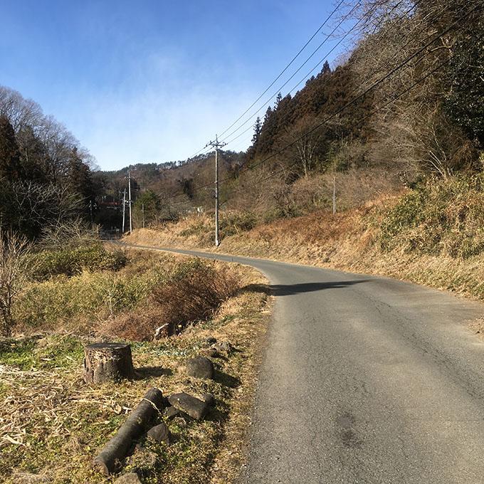 岩櫃山への道