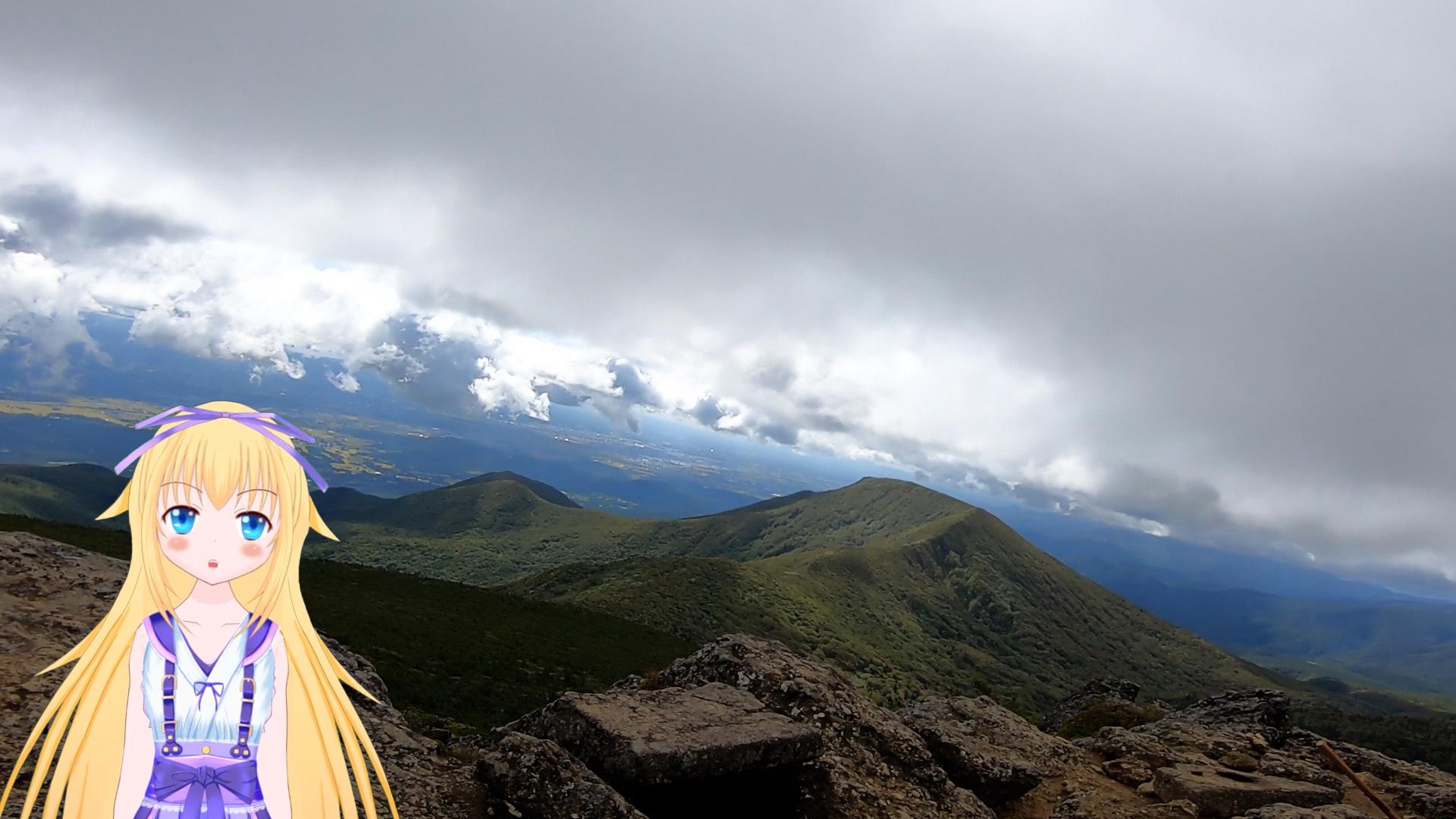 安達太良山山頂からの景色